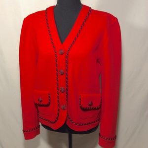 Peggy Martin Cherry Red Blouse